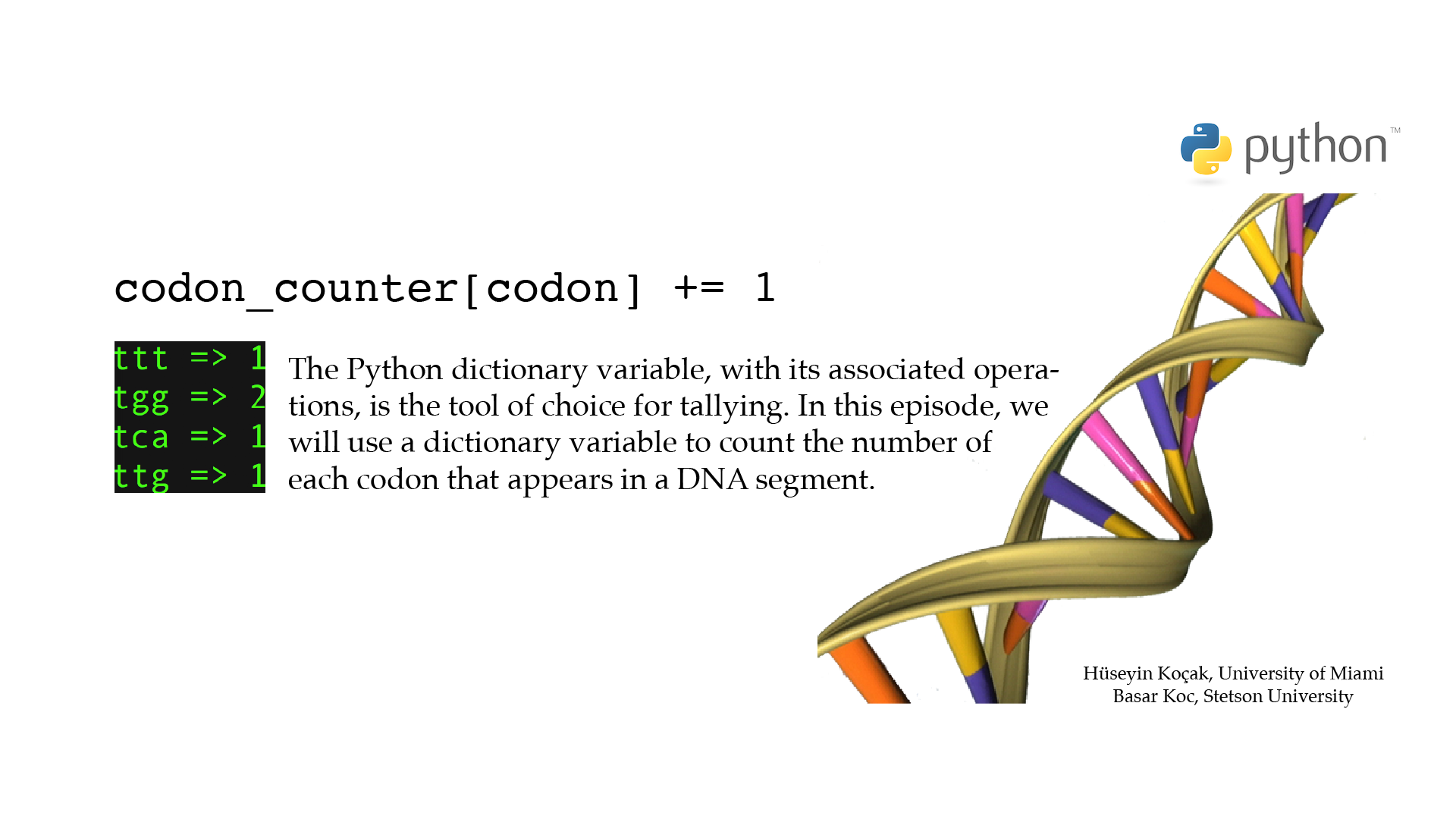 Python for Biologists
