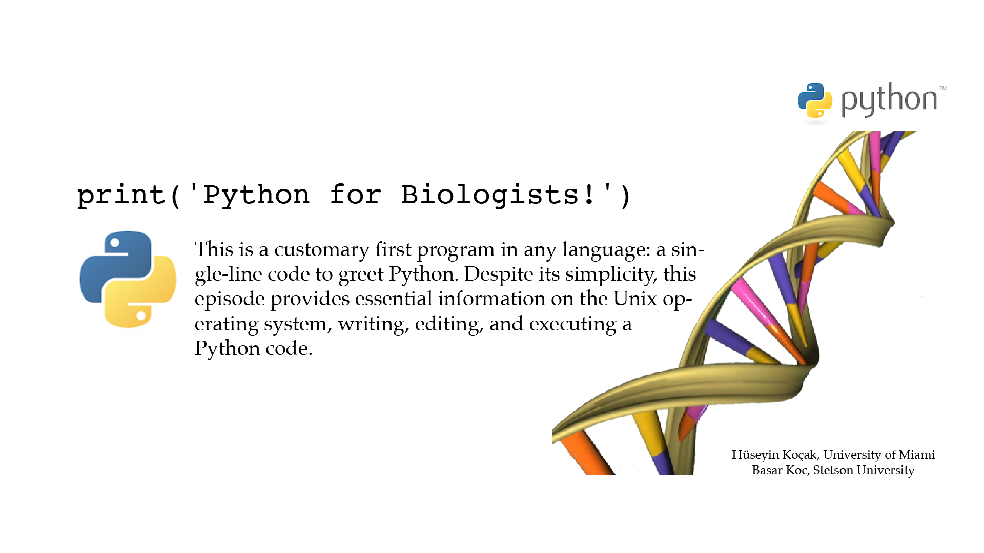 Python for Biologists